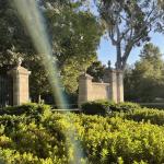 Pomona College Gates in sunshine
