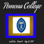 graphic of Pomona College and copy of Leslie's description of it