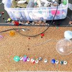 beads and beaded bracelet
